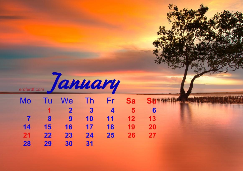 December 2018 Calendar Printable Nature