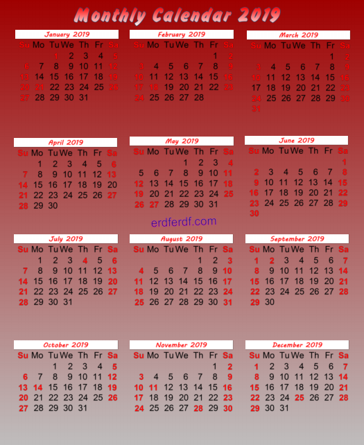 July 2019 Calendar Canada Monthly Printable