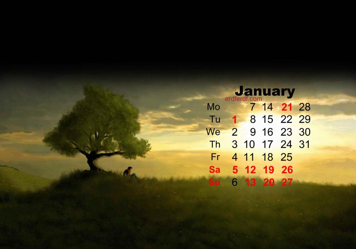 january 2019 calendar template wallpaper