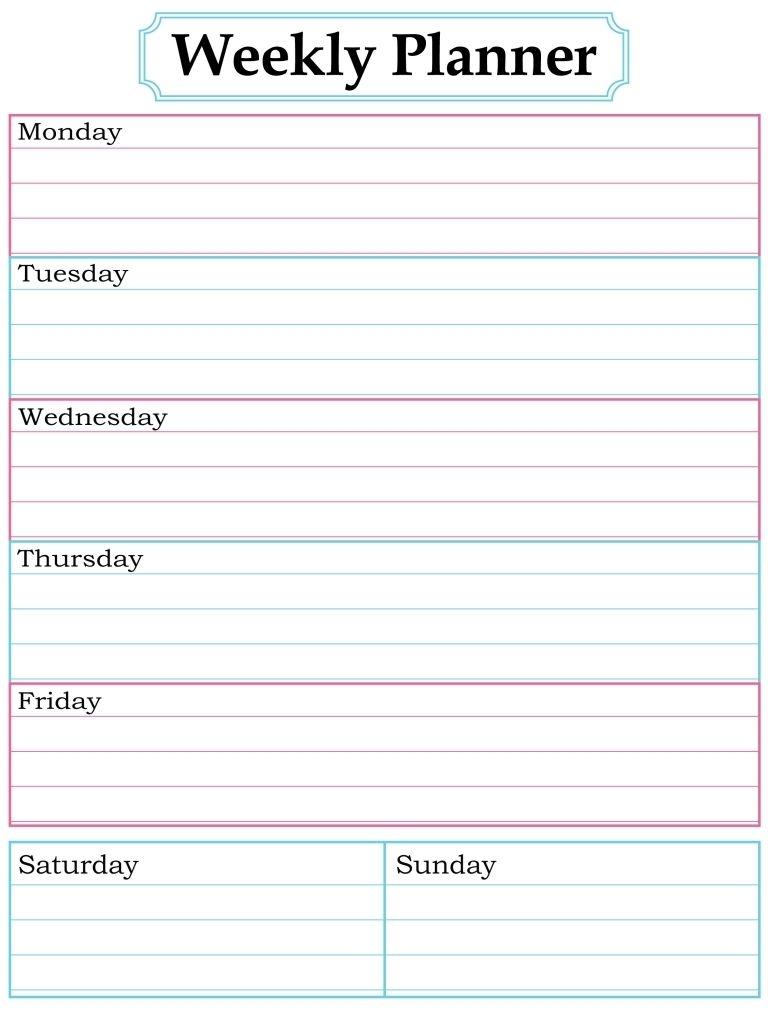 1000 images about printable weekly calendars on pinterest cute Cute Printable Blank Calendar Weekly Schedule erdferdf