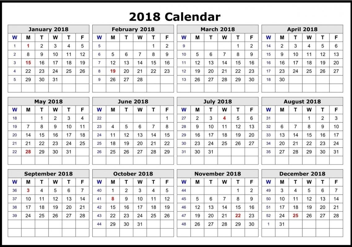 2018 calendar printable 12 months on one page fair month vitafitguide 2018 Calendar 12 Months On One Page erdferdf