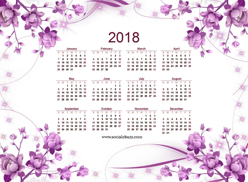 2018 calendar printable free blank 2018 printable calendar template 2018 Printable Calendar Pretty By Year erdferdf