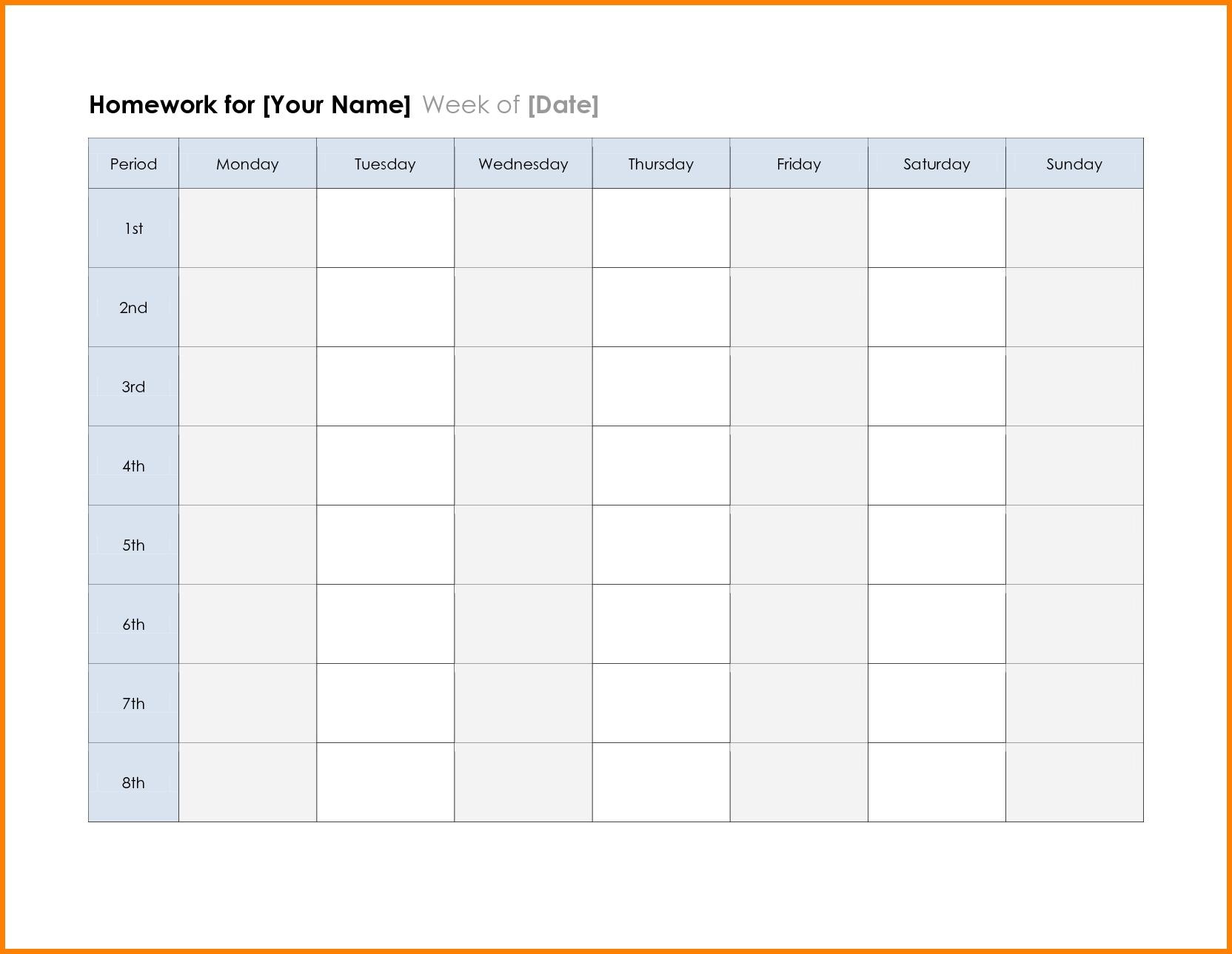 2018 calendar printable planner template excel word pdf mandegar Free Printable Weekly Calendar Pdf  erdferdf