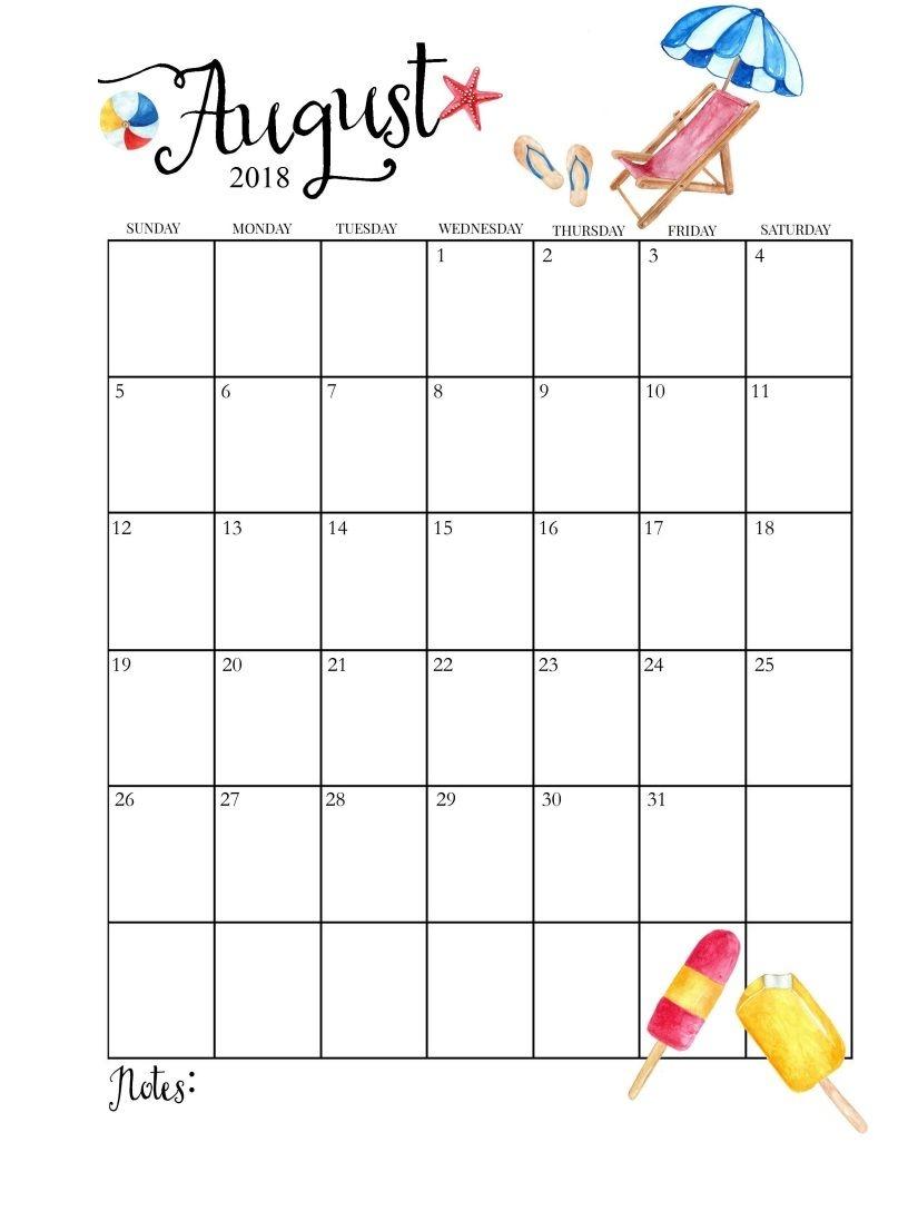 2018 printable monthly august calendar 2018 calendar pinterest Printable Monthly Calendar For Aug 2018 erdferdf