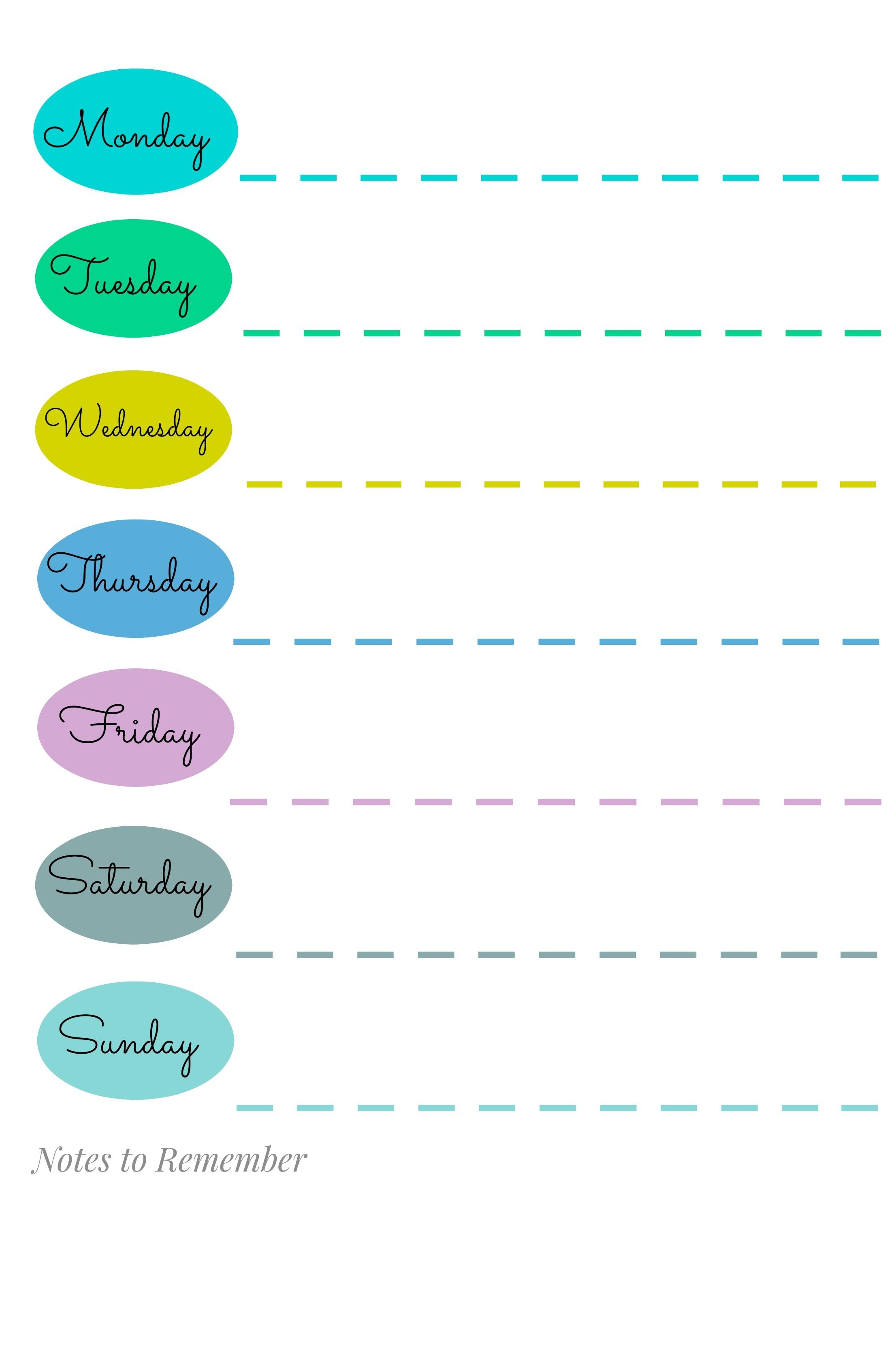 27 images of cute printable weekly calendar template designsolid Cute Printable Blank Calendar Weekly Schedule erdferdf