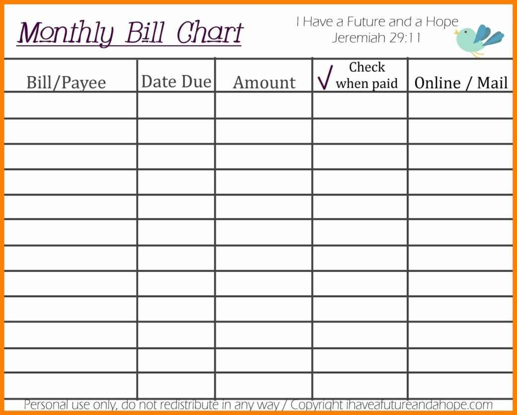 6 bill calendar template week notice letter   Monthly Bill Calendar For A Year erdferdf