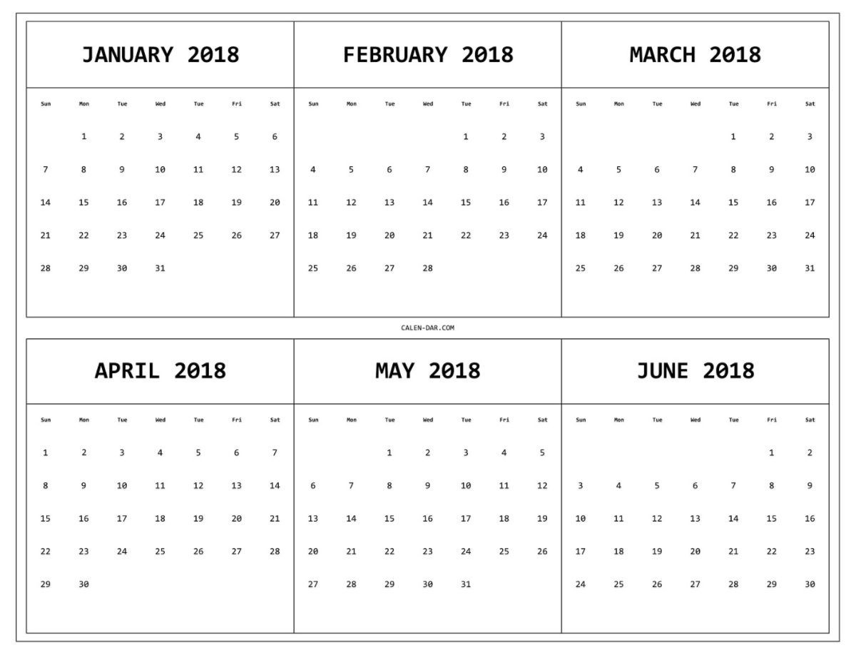 2018 calendar 12 months on one page calendar template printable