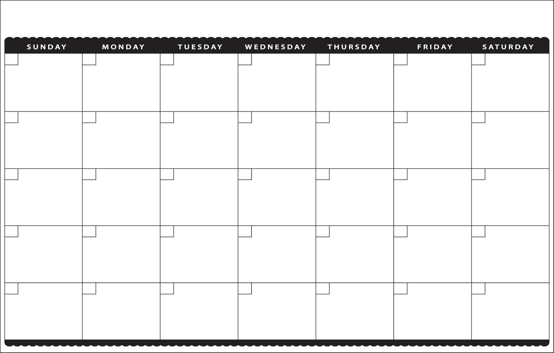 7 best images of cute printable blank calendar cute blank Cute Printable Blank Calendar Weekly Schedule erdferdf