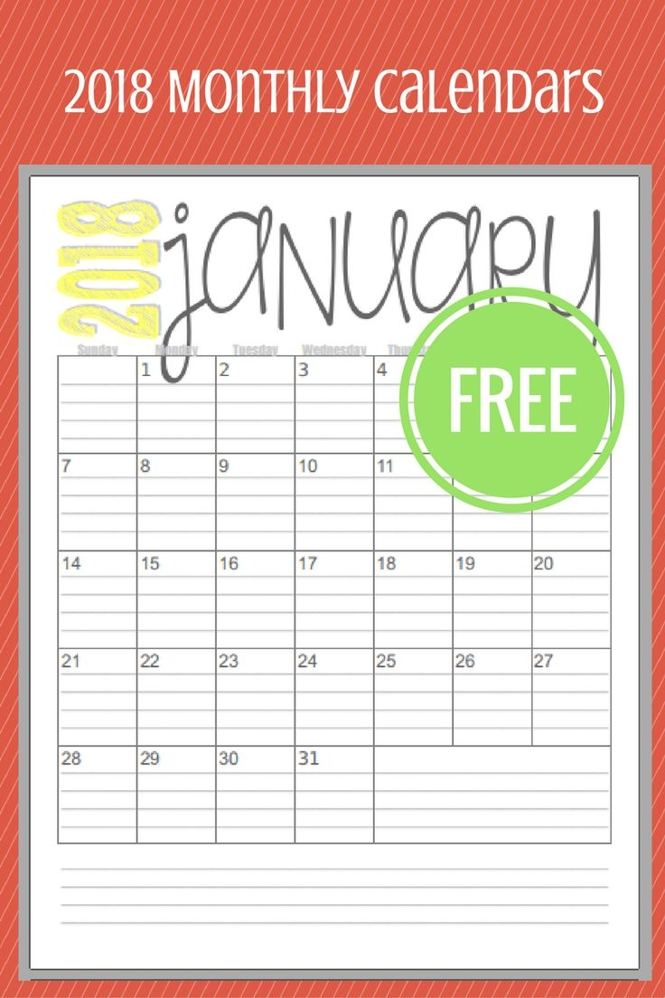 749 best planners organization printables images on pinterest Printable Calendar 2018 Bill Monthly  erdferdf