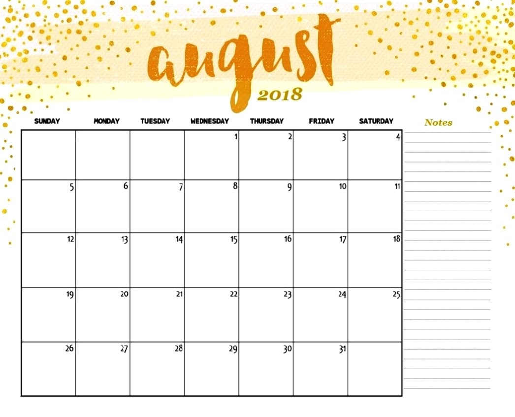 august 2018 calendar cute printable template with holidays Calendar August 2018 Uk List erdferdf