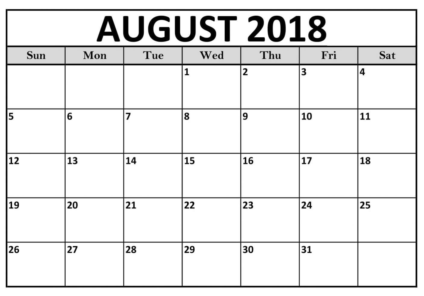 august 2018 calendar excel template task management template Calendar August 2018 Printable Worksheets erdferdf