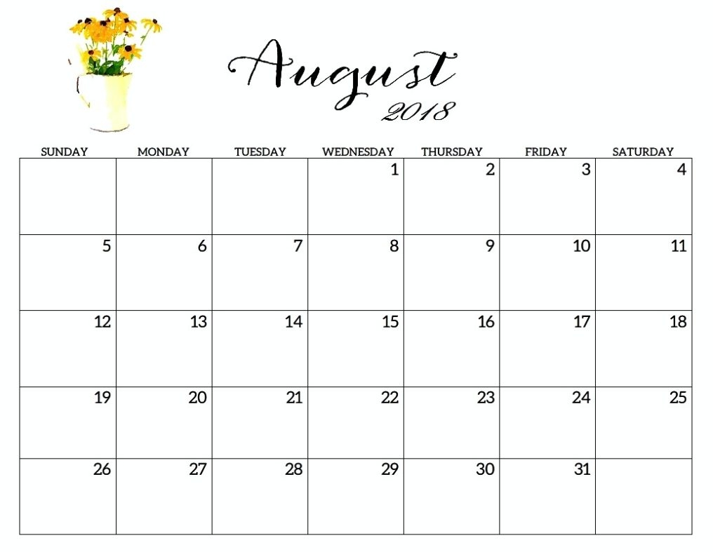 august 2018 calendar free printable template free hd images Calendar August 2018 Printable Valentines erdferdf