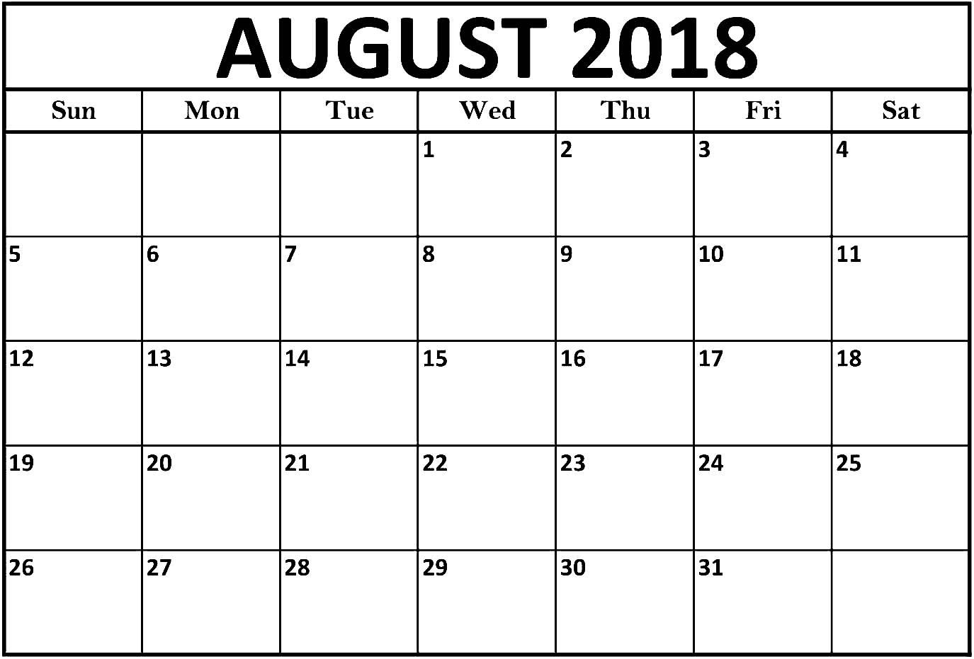 august 2018 calendar printable template best calendar printable Calendar August 2018 Printable Uk erdferdf