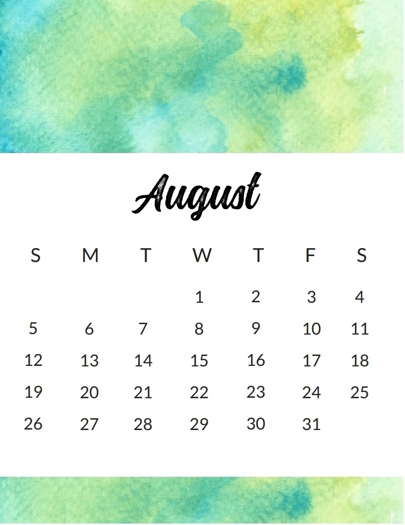 august 2018 calendar uk free download editable printable Calendar August 2018 Printable Uk erdferdf