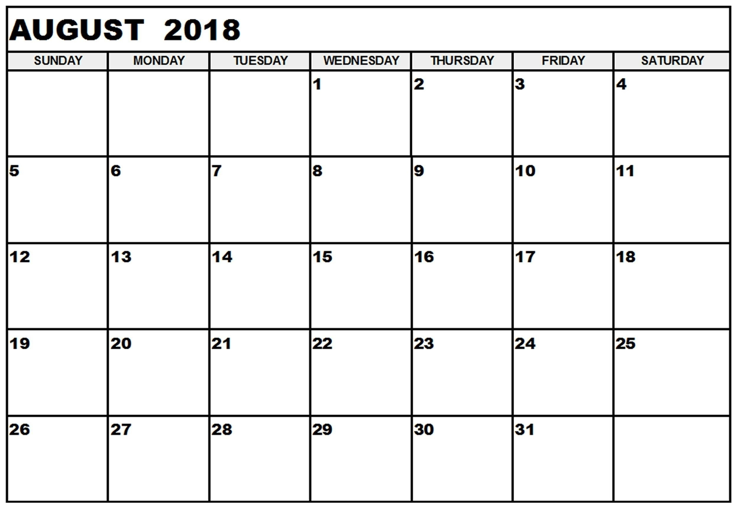 august 2018 free printable calendar calendar printable with Free Pretty Printable Calendars August 2018 erdferdf
