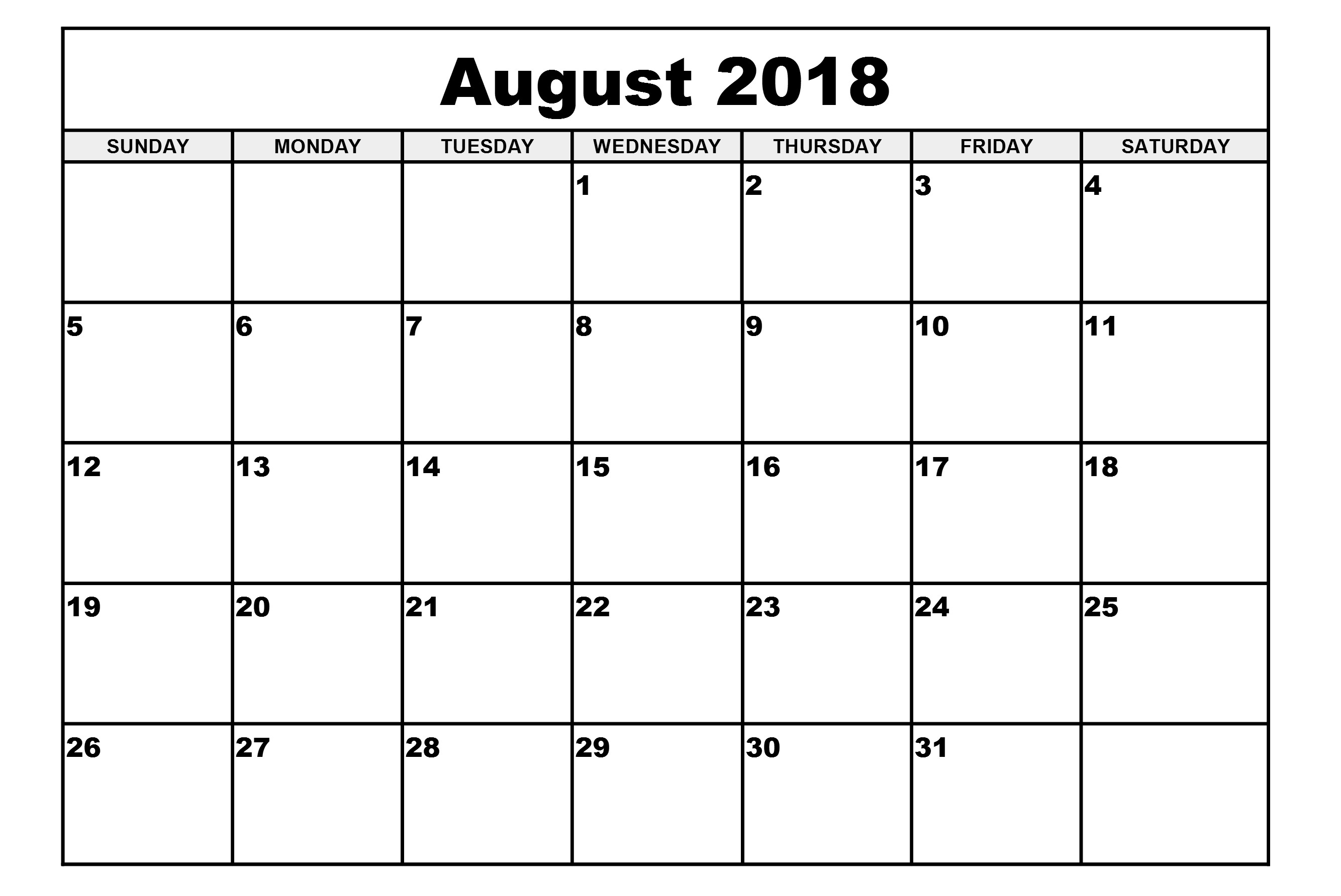 august calendar 2018 printable with holidays free hd images Calendar August 2018 Printable Free erdferdf