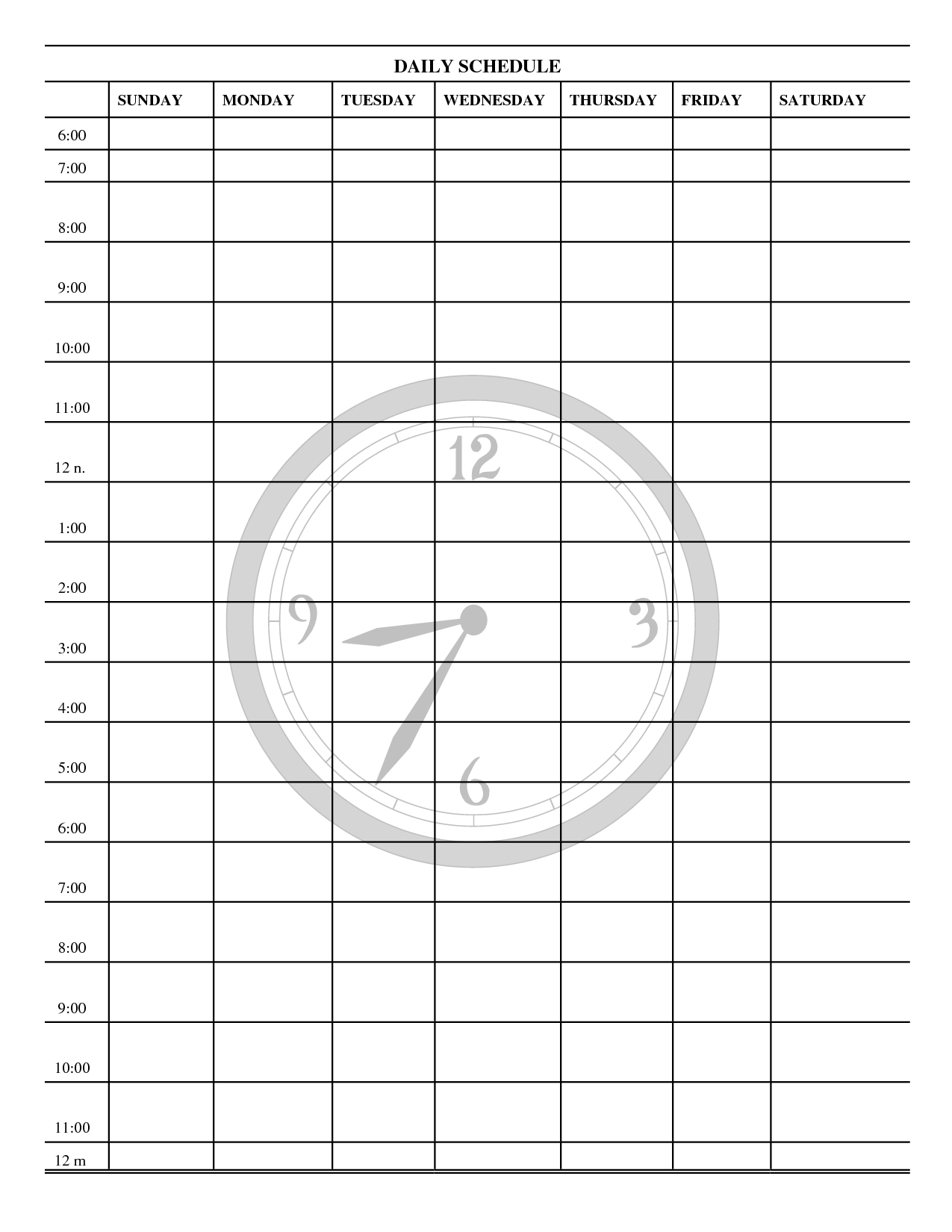 best photos of downloadable daily schedule template free printable Free Day To Day Calendar erdferdf