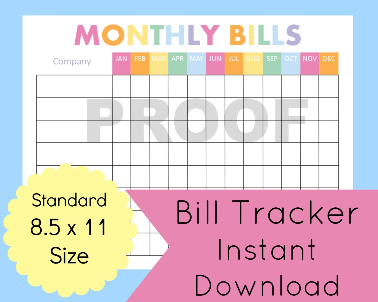 bill organizer template gallery template design ideas   Monthly Bill Calendar For A Year erdferdf