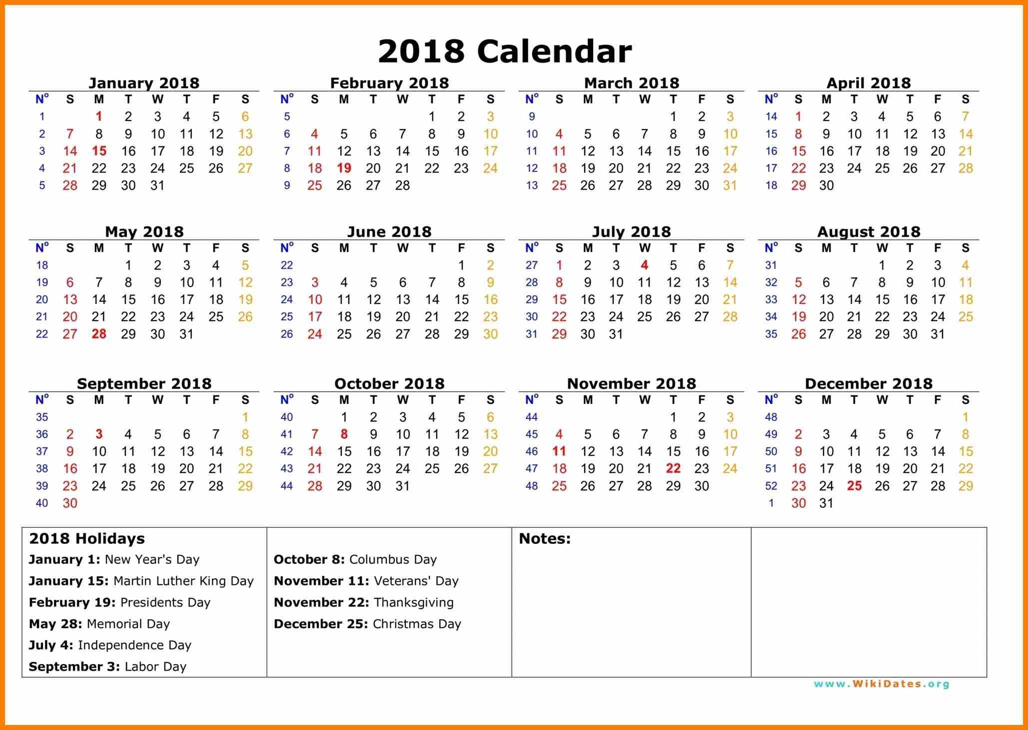 calendar 2018 india printable free download usa ripping  2018 Calendar With Holidays Usa Printable erdferdf