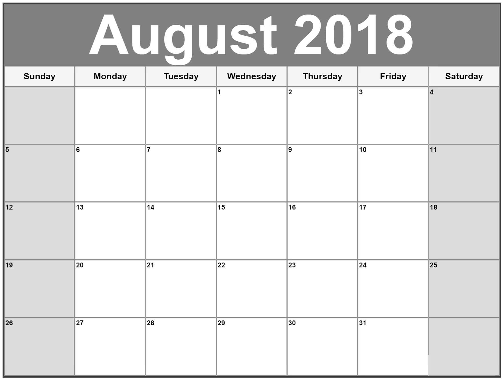 calendar august 2018 google printable printable calendar template Calendar August 2018 Printable Schedule erdferdf
