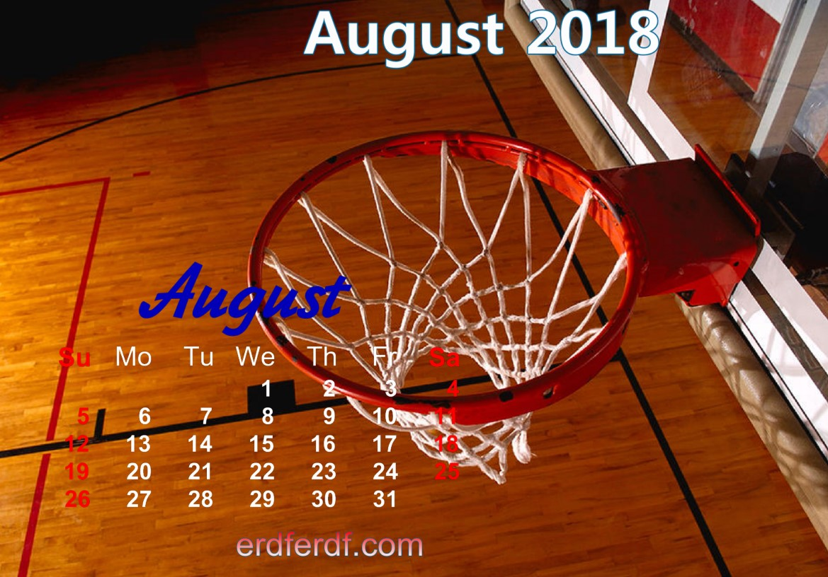calendar august 2018 uk basketball 2