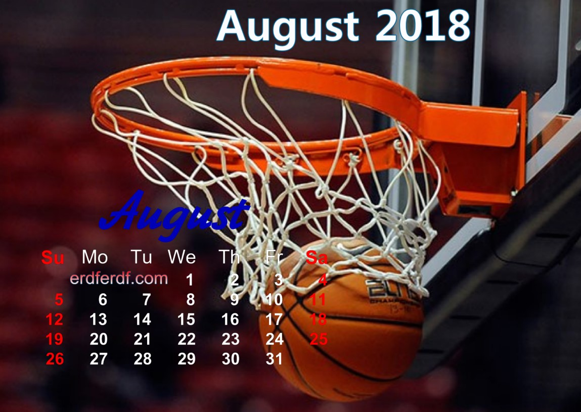 calendar august 2018 uk basketball 5