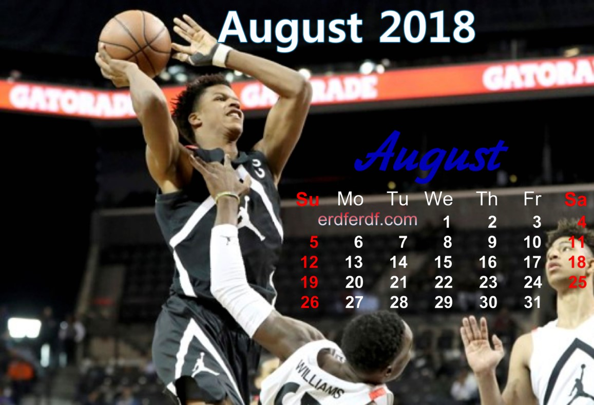 calendar august 2018 uk basketball 7
