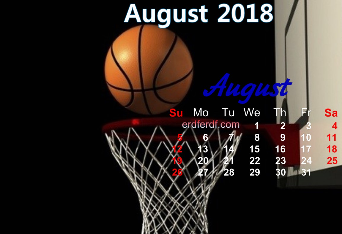 calendar august 2018 uk basketball 8