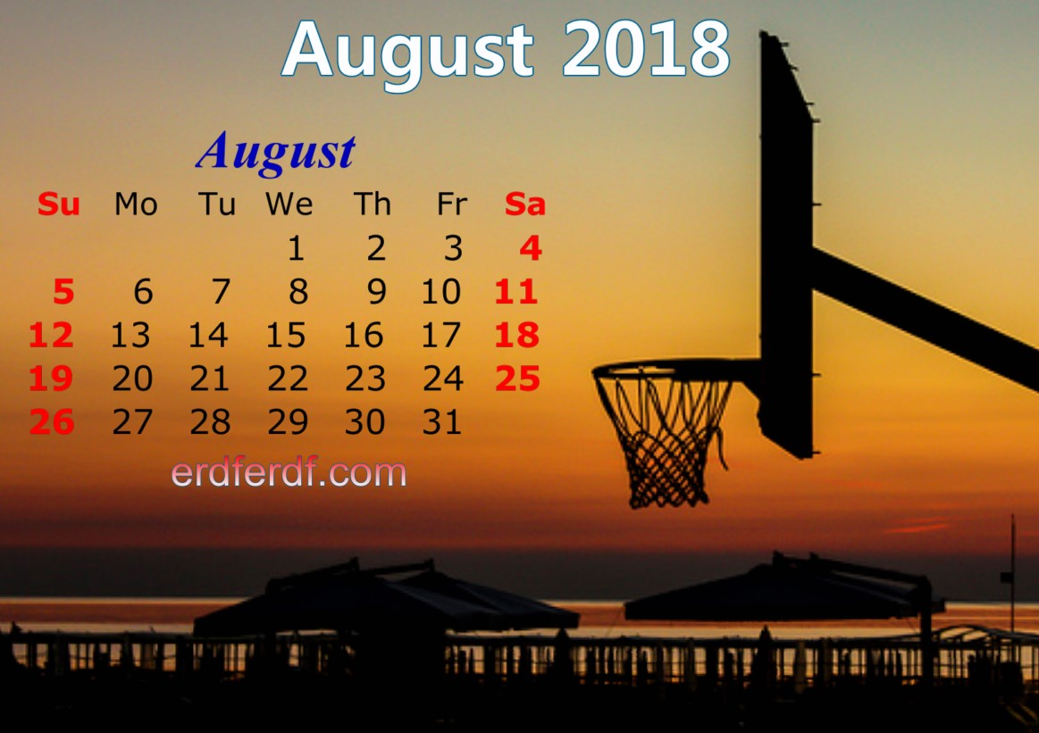 calendar august 2018 uk basketball Picture