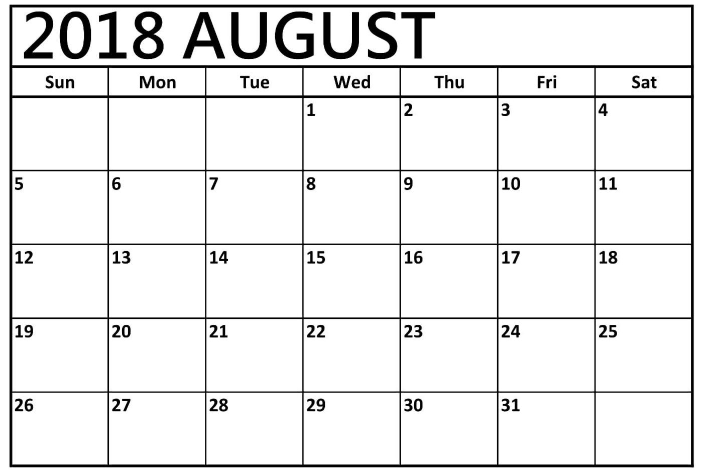 Calendar August 2018 Uk Us erdferdf
