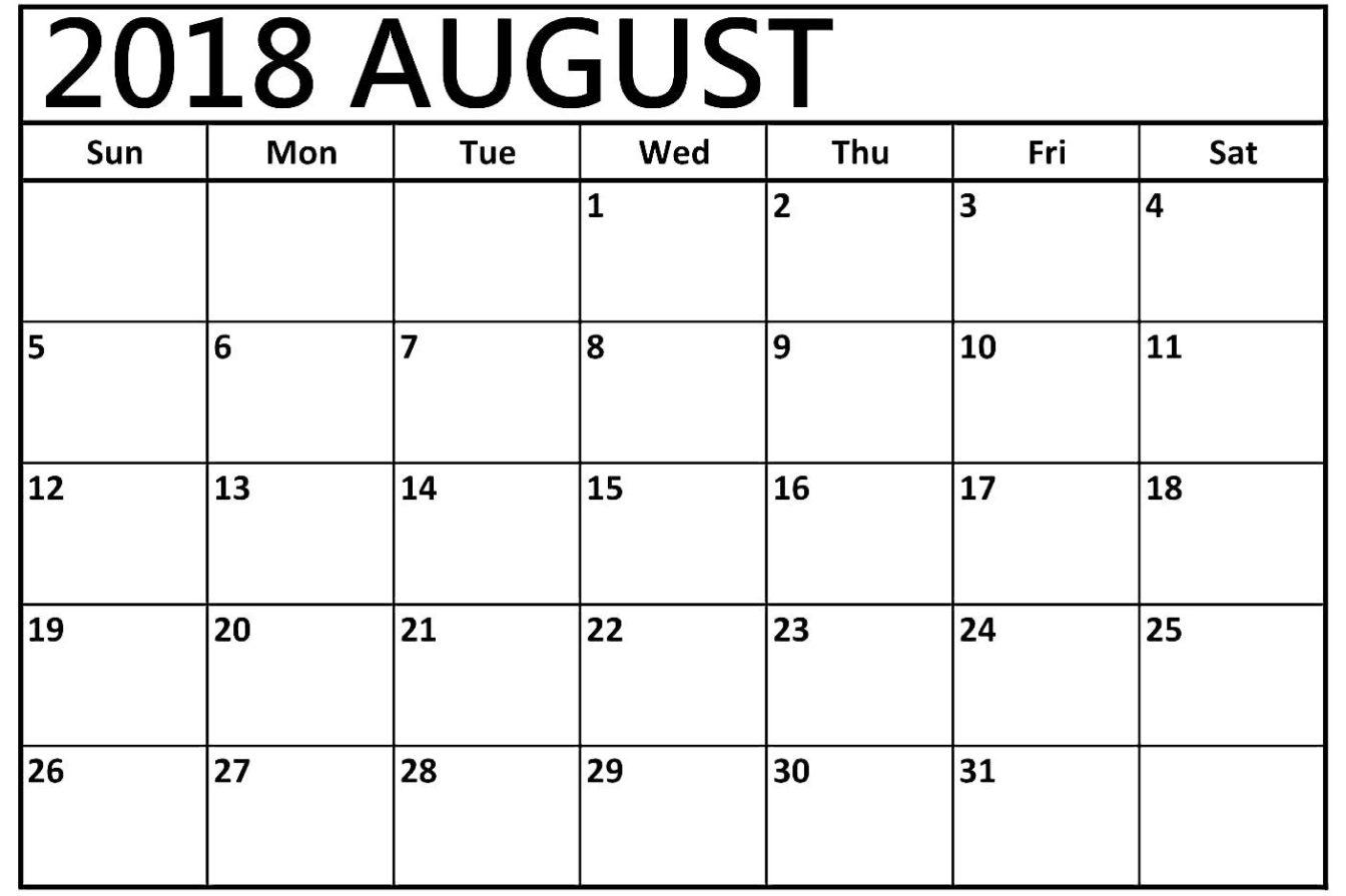 cute august 2018 calendar calendar printable with holidays letter Calendar August 2018 Printable Uk erdferdf