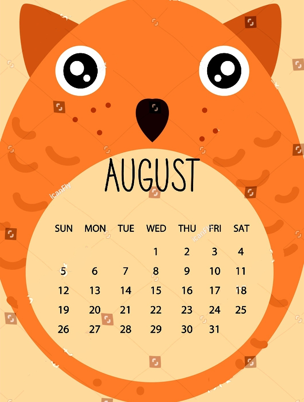 cute printable calendar august 2018 daily calendar 2018 printable Cute Printable Calendar For August 2018 erdferdf