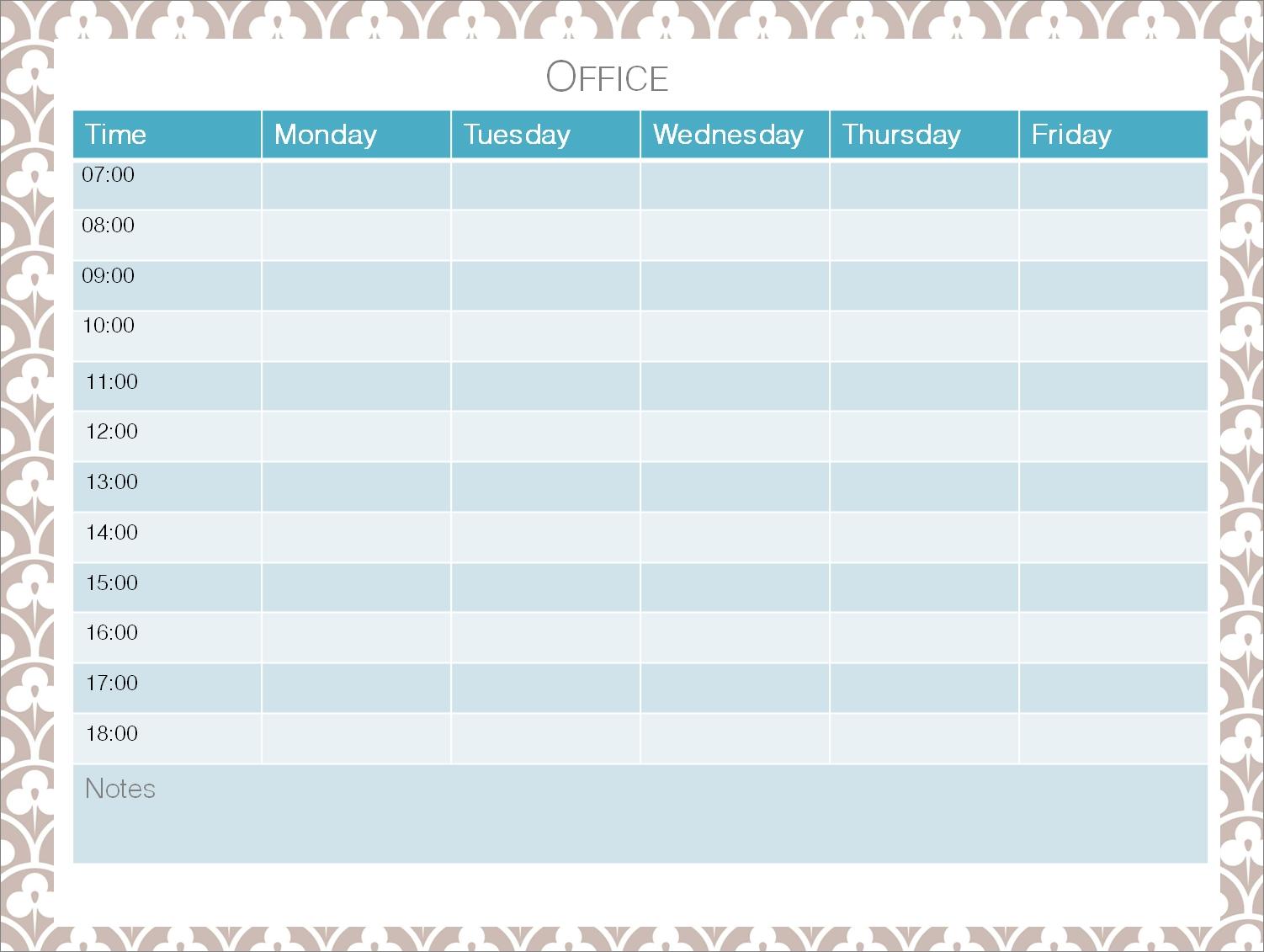 cute printable weekly schedule physicminimalisticsco Cute Printable Blank Calendar Weekly Schedule erdferdf