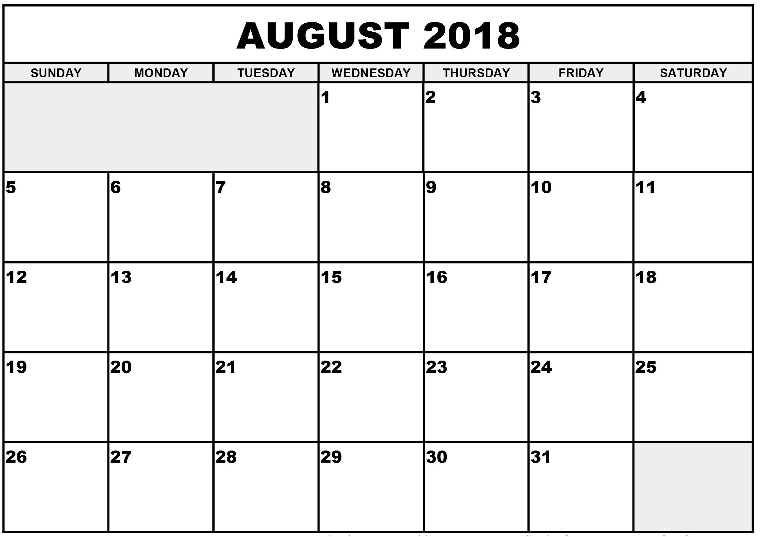 daily calendar 2018 printable template word excel pdf store Calendar August 2018 Uk List erdferdf