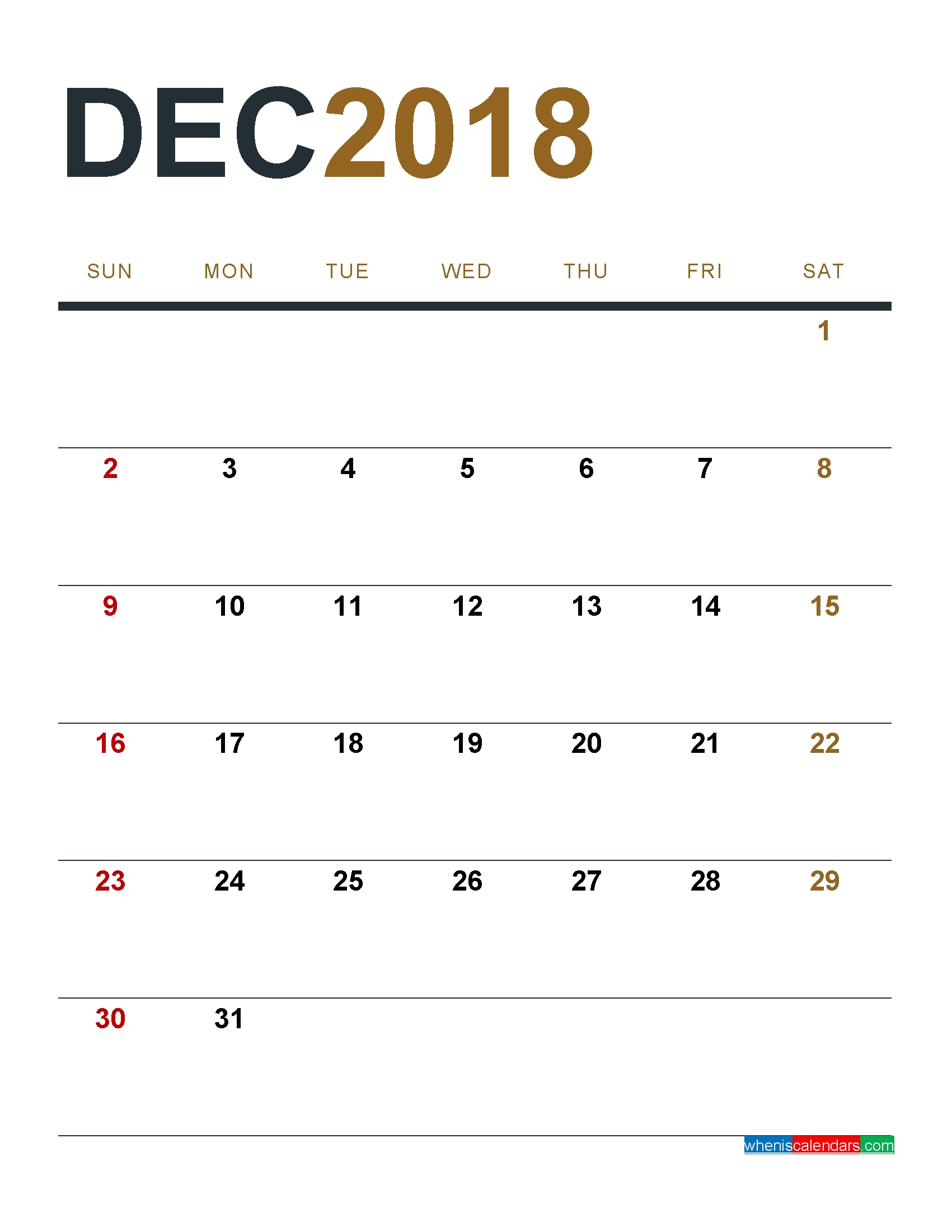 december 2018 calendar printable as pdf and image Tumblr Calendar 2018 By Month Printables erdferdf