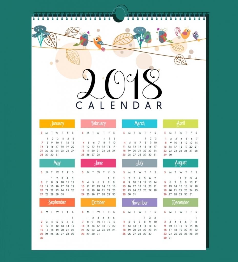 elegant calendar 2018 design 2018 calendar printable Calendar 2018 Design erdferdf