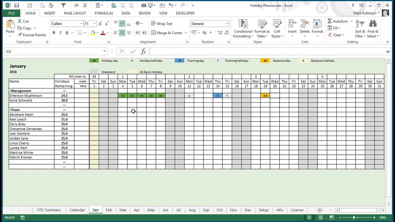 employee vacation planner template excel Vacation Planner Calendar 2018 erdferdf