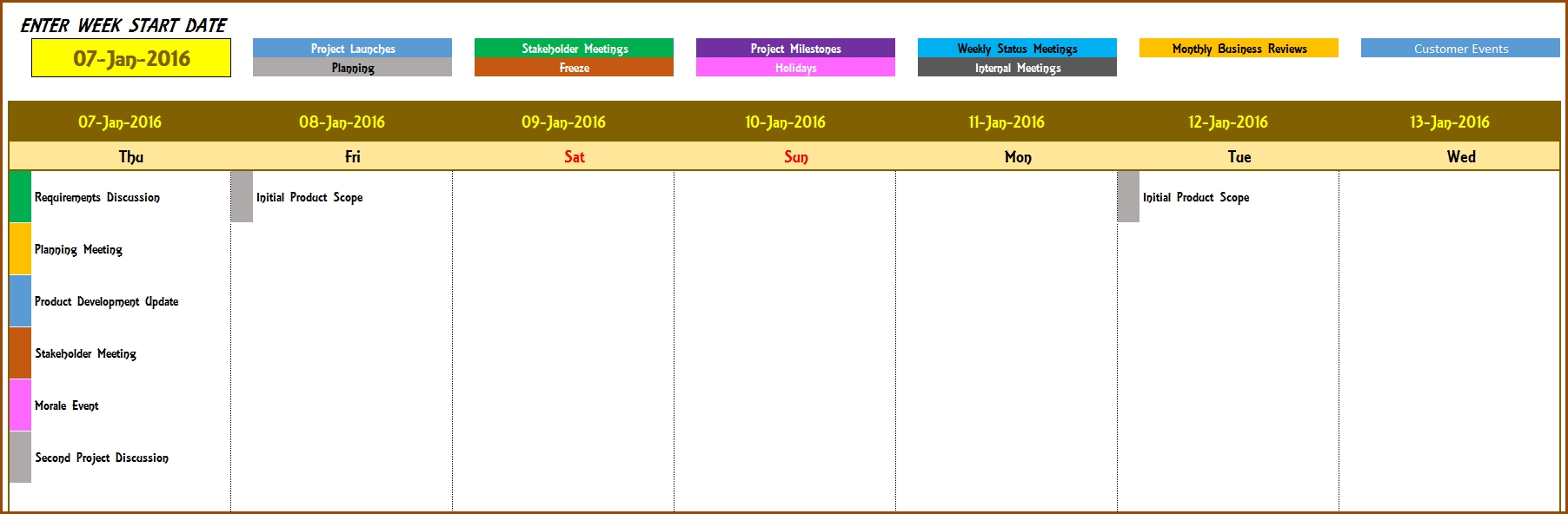 event calendar template 2018  2018 Yearly Calendar Excel Template erdferdf