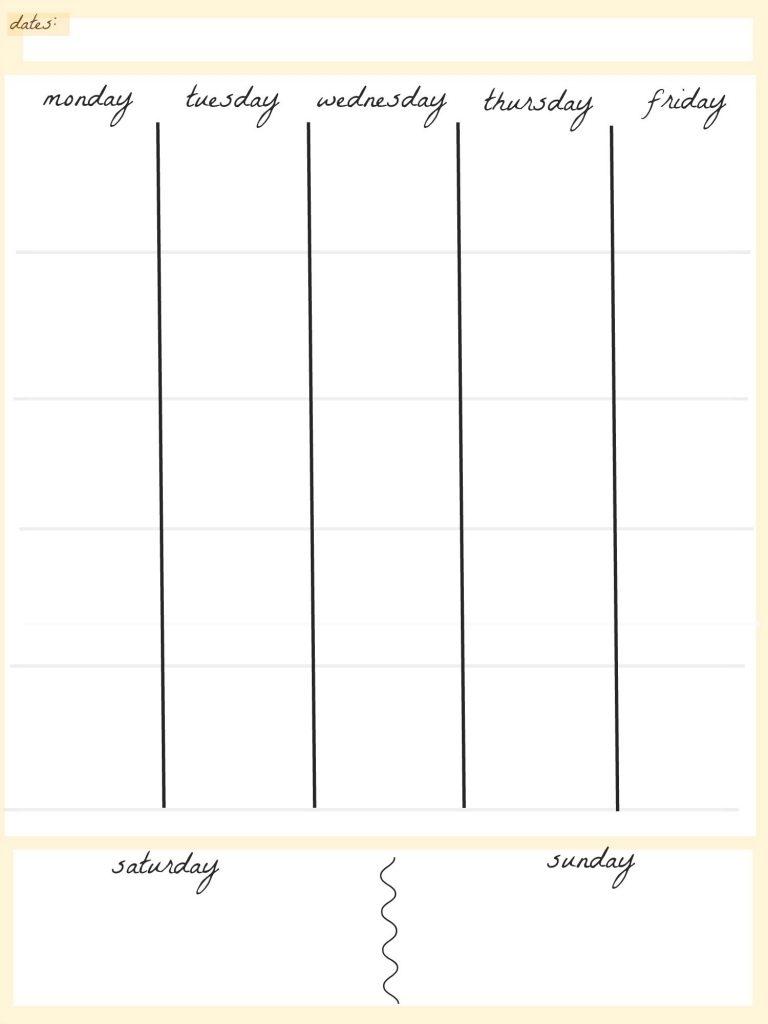 free 5 day calendar template calendar image 2019 Free Day To Day Calendar erdferdf