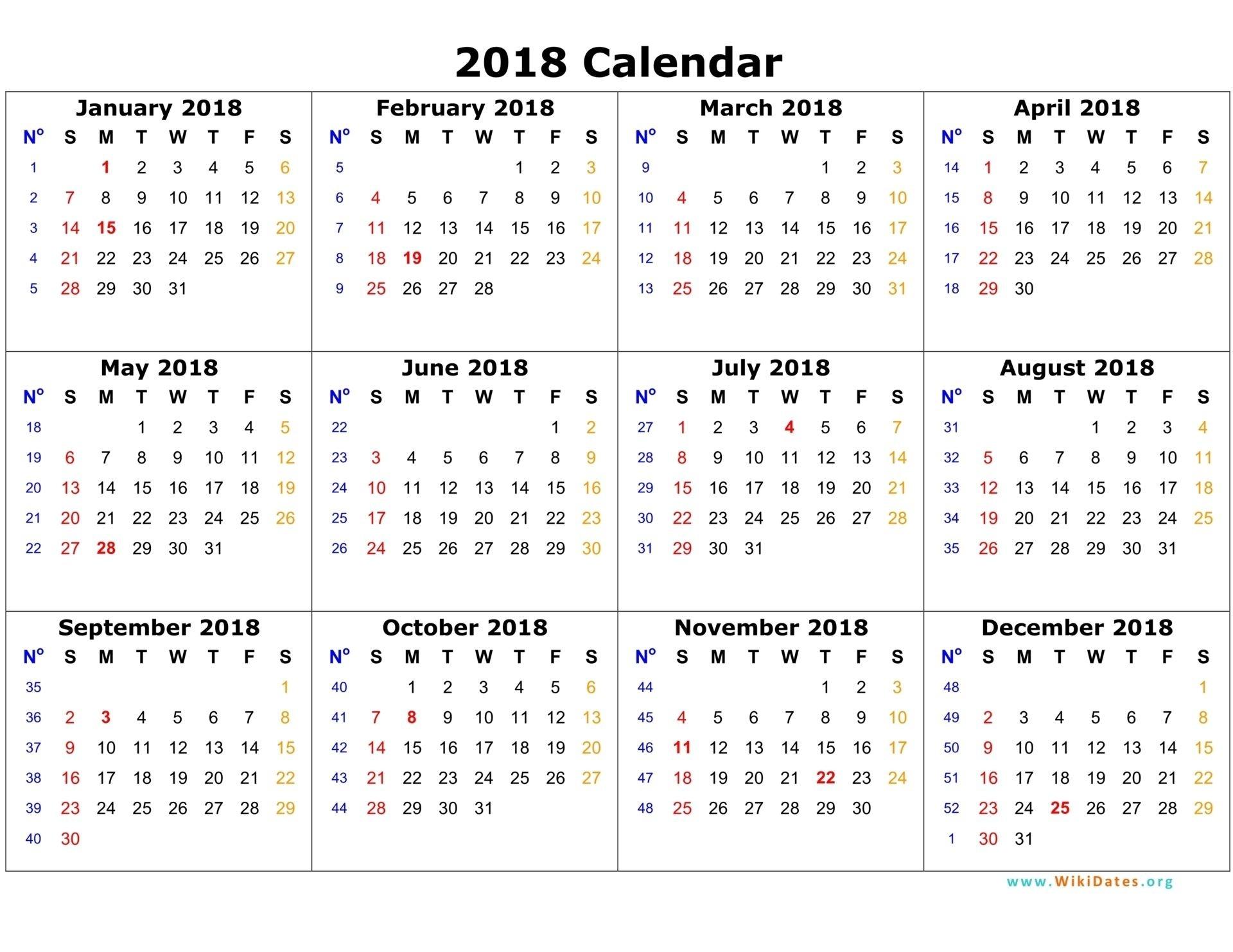 free printable 2018 12 month calendar calendario pis Free Printable 12 Month Calendar 2018 erdferdf