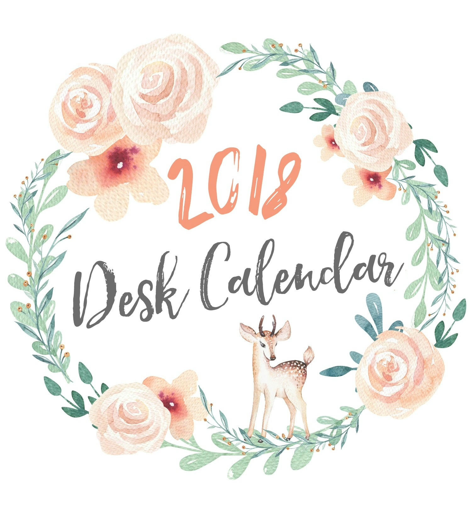 free printable calendar clean and scentsible 2018 Printable Calendar Pretty By Year erdferdf