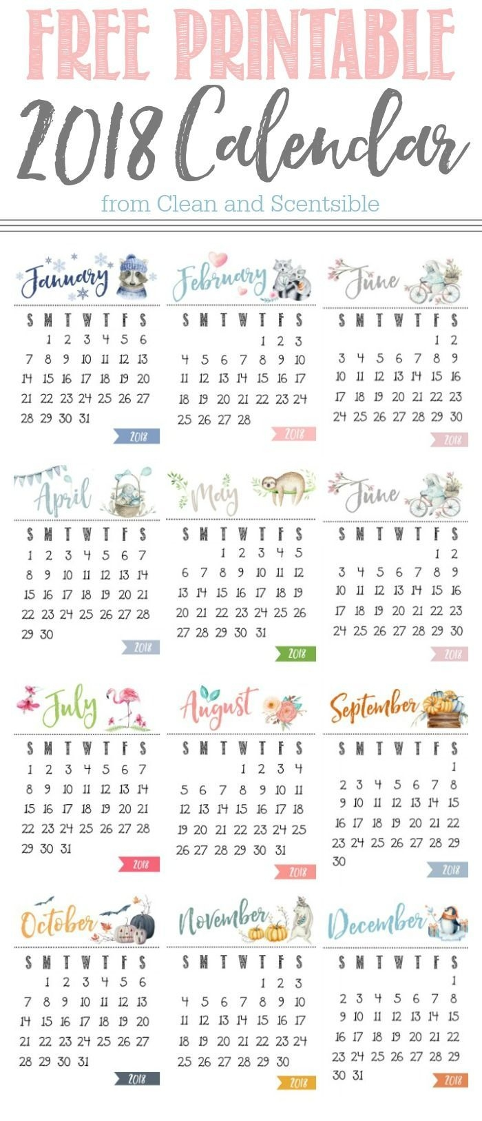 free printable calendar pinterest yearly clipboards and free 2018 Printable Calendar Pretty By Year erdferdf