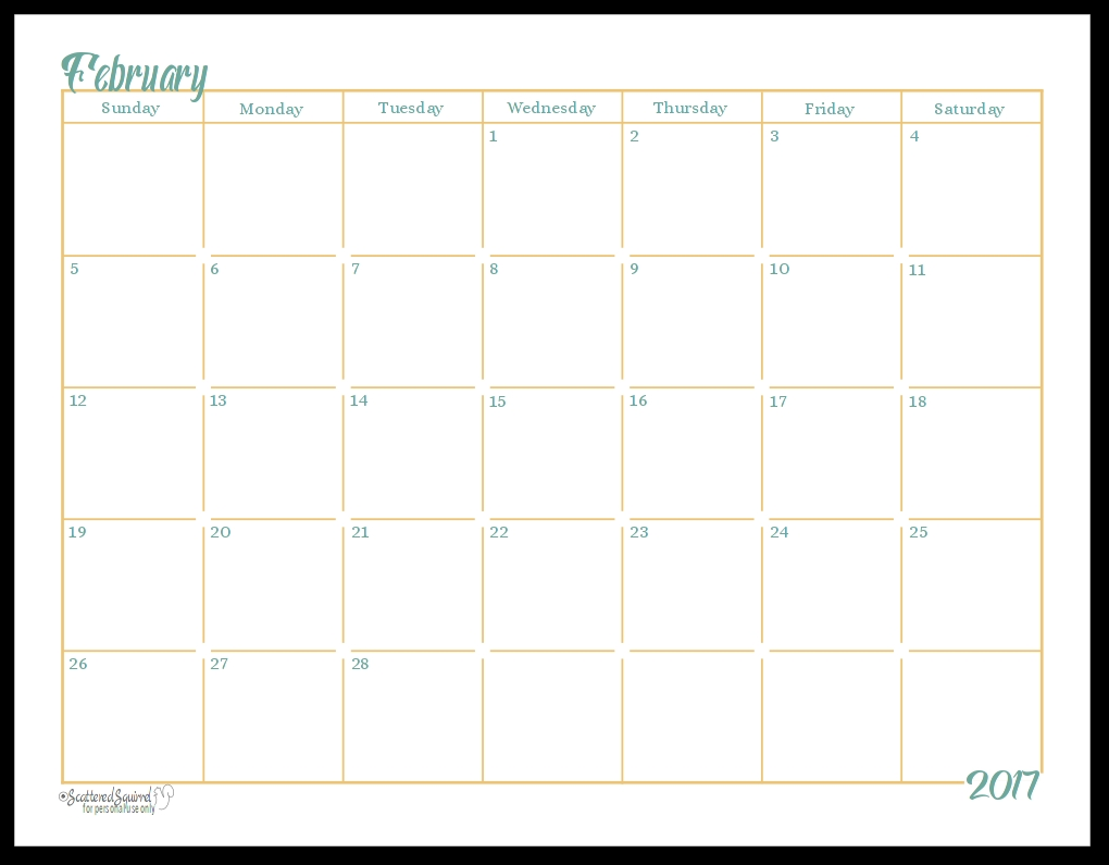 Free Printable Monthly Calendar With Lines