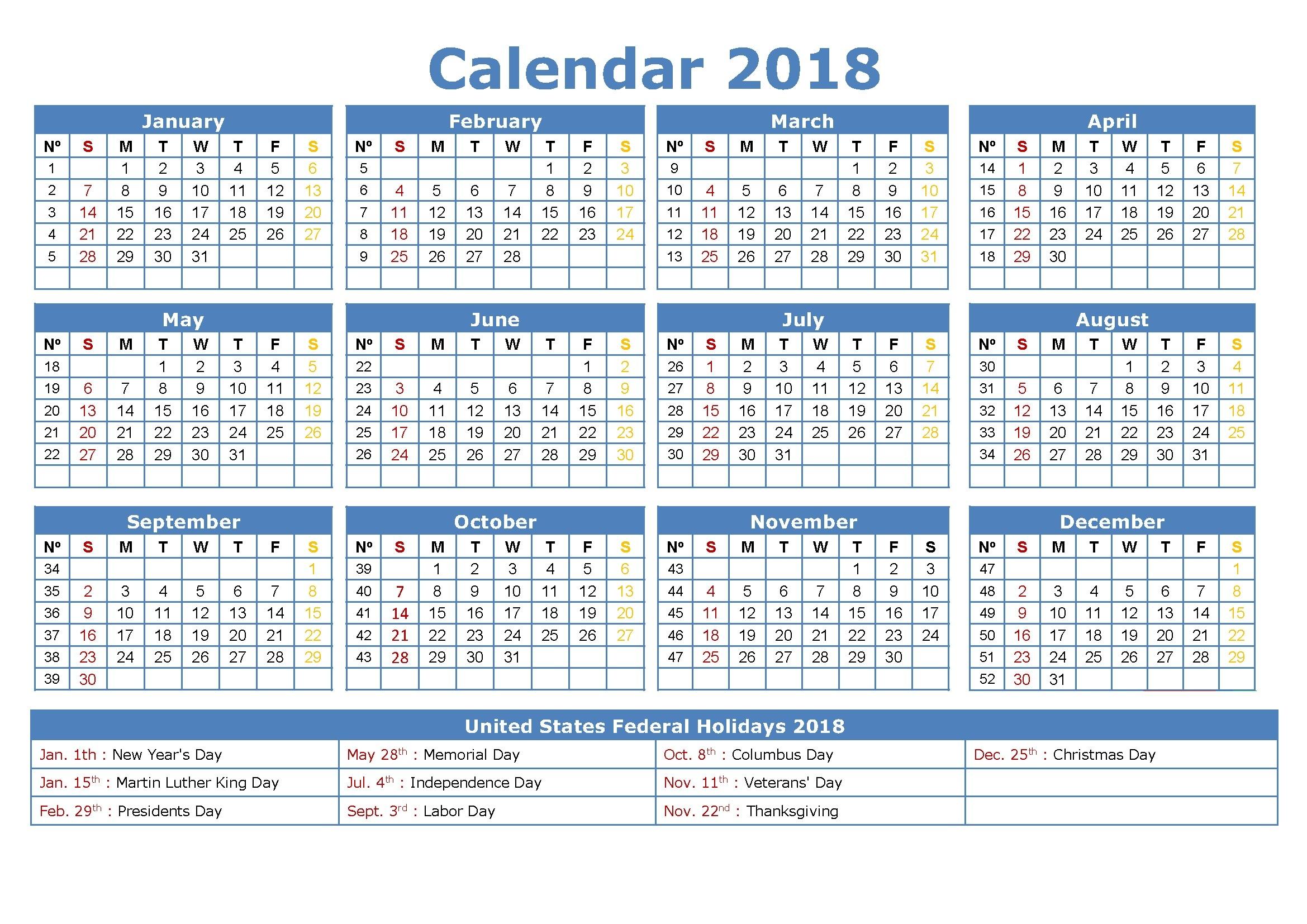free printable employee attendance calendar 2018  Free Employee Attendance Calendar 2018  erdferdf
