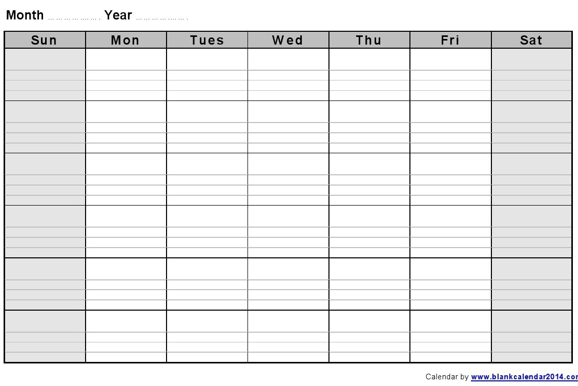 free printable monthly calendar with lines Free Printable Monthly Calendar With Lines erdferdf