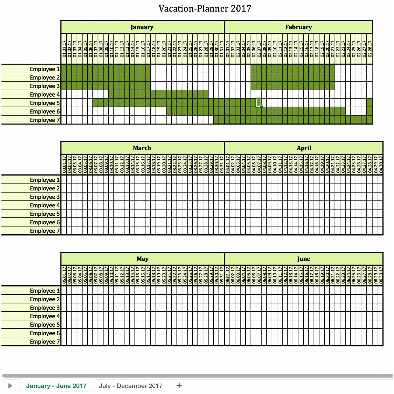 Vacation Planner Calendar 2018