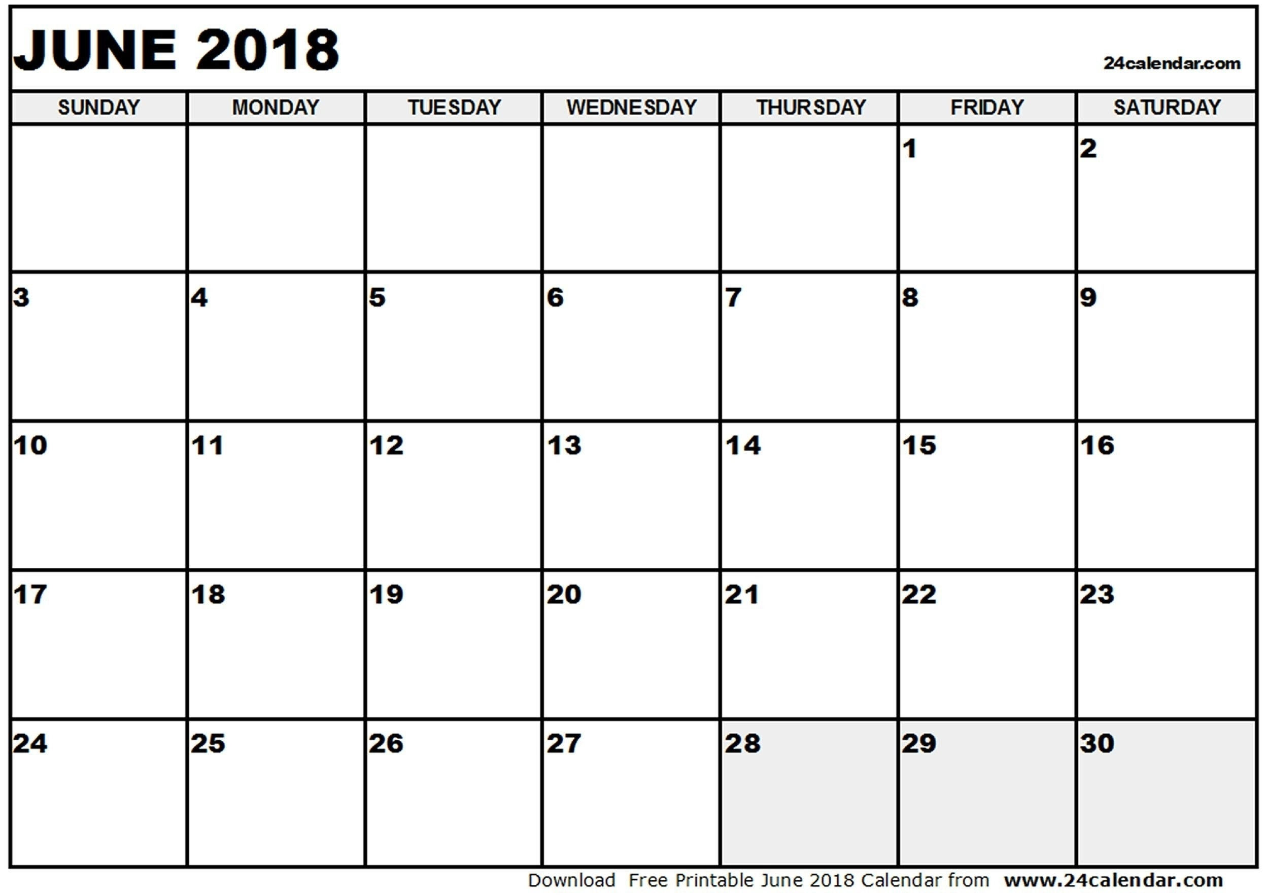 Kid Friendly Printable Calendar 2018