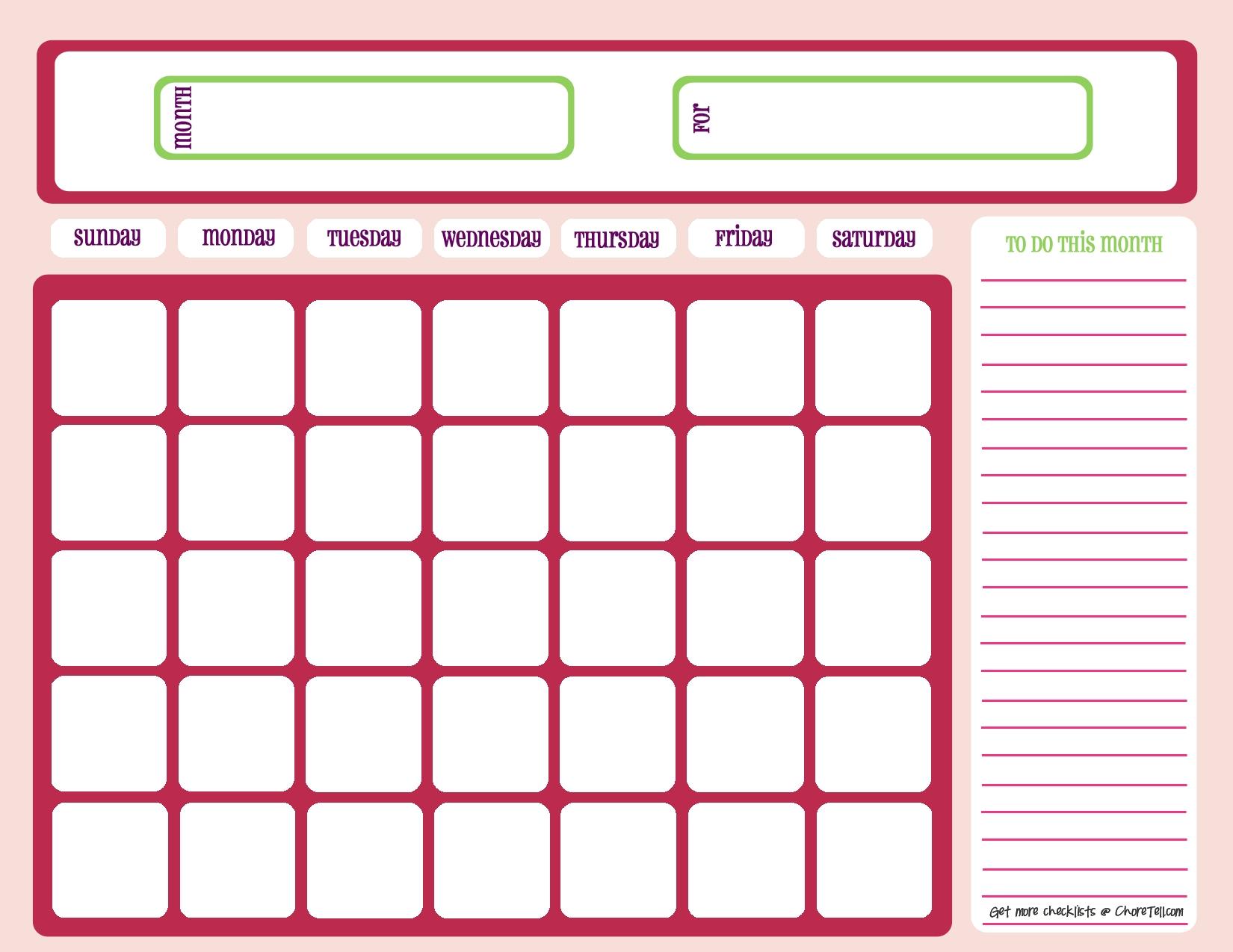 lovely cute printable monthly planner downloadtarget Cute Printable Blank Calendar Weekly Schedule erdferdf