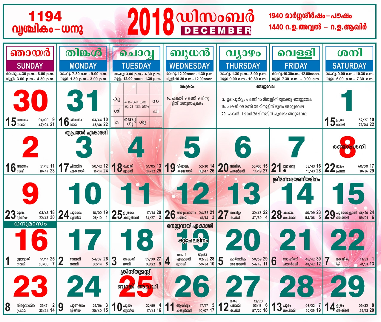 malayala manorama calendar 2018 december calendar printable free Kerala Government Calendar 2018 Pdf Free Download erdferdf