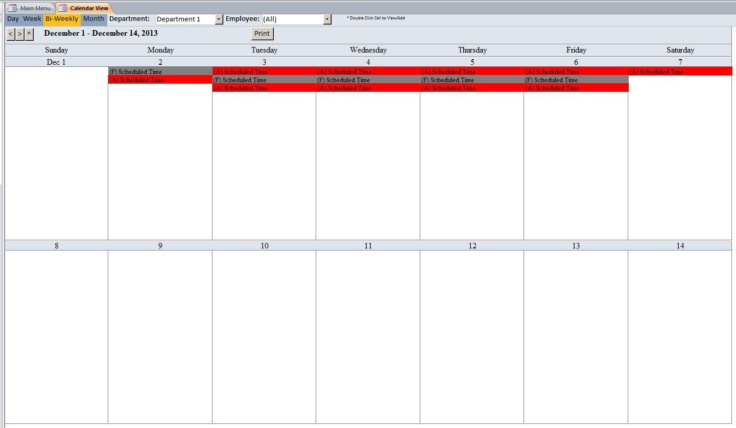 Free 2 Week Blank Printable Calendar
